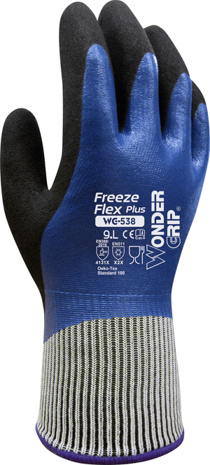 Coated Gloves - On Sale! Wonder Grip Freeze Flex Plus WG-538, Sub Zero Gloves, 12 Pair- Free Shipping!