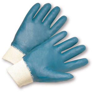 Coated Gloves - West Chester 4000 Knit Wrist Nitrile Fully Coated Jersey Lined