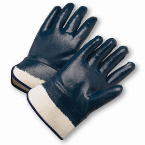 Coated Gloves - West Chester 4550FC Safety Cuff Fully Coated Nitrile Jersey Lined
