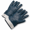 Coated Gloves - West Chester 4550RFFC Safety Cuff Fully Coated Nitrile Rough Finish Jersey Lined