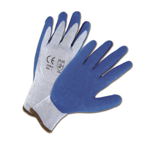 West Chester 700SLC, Blue Latex Coated String Knit Gloves, 12 Pair