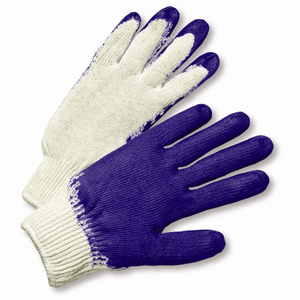 Coated Gloves - West Chester 708SLC String Knit Blue Latex Palm Coated Glove 12 Pair