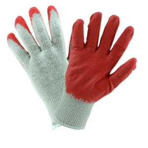 Coated Gloves - West Chester 708SLCE String Knit Red Latex Palm Coated Glove 12 Pair