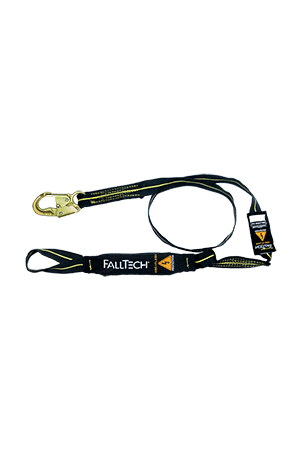 Connectors - FallTech 6' Single Leg Arc Flash FR Lanyard; Loop And Snap Hook; Kevlar And Nomex Web