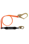 Connectors - FallTech 6' Single Leg Lanyard; Urethane Coated; Snap And Rebar Hook