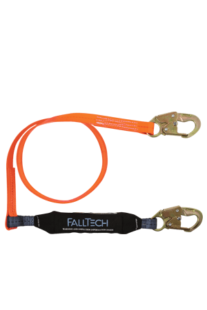 Connectors - FallTech 6' Single Leg Lanyard, Urethane Coated With 2 Snap Hooks