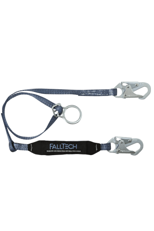 Connectors - FallTech 6' Single Leg Lanyard With 1 Snap Hook And Tie-back D-ring