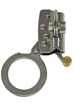 "Connectors - FallTech 7491 Self-Tracking Rope Grab, Hinged, For 5/8"" Rope, Stainless Steel"