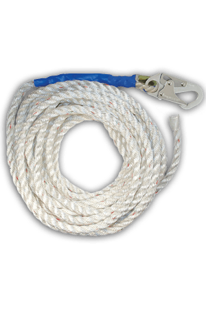 "Connectors - FallTech 8200T 100' Vertical Lifeline, 5/8"" Premium Polyester Rope"