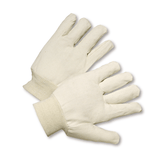 Cotton/Canvas Gloves - West Chester 708R, Poly/Cotton, Knit Wrist Canvas Gloves, Reversible, 12 Pair