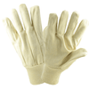 Cotton/Canvas Gloves - West Chester 712K, Knit Wrist Canvas Gloves, Poly/Cotton, Wing Thumb, 12 Pair