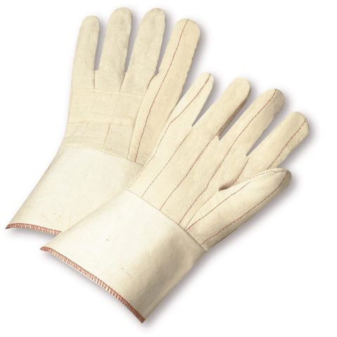 "Cotton/Canvas Gloves - West Chester G03SI, PE Laminated Hot Mill Glove 4.5"" Cuff, 12 Pair"