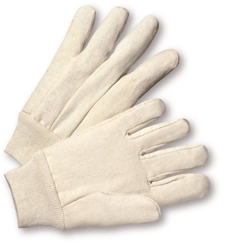 Cotton/Canvas Gloves - West Chester K01I, Knit Wrist Canvas Gloves, 100% Cotton, 12 Pair