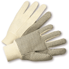 Cotton/Canvas Gloves - West Chester K01PDI, Knit Wrist Canvas Gloves With PVC Dots, 12 Pair