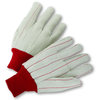 Cotton/Canvas Gloves - West Chester K81SCNCRI, Knit Wrist Corded Gloves, Large, 12 Pair