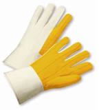 Cotton/Canvas Gloves - West Chester M18G, Chore Glove, Gauntlet Cuff Yellow Palm, Canvas Back, 12 Pair