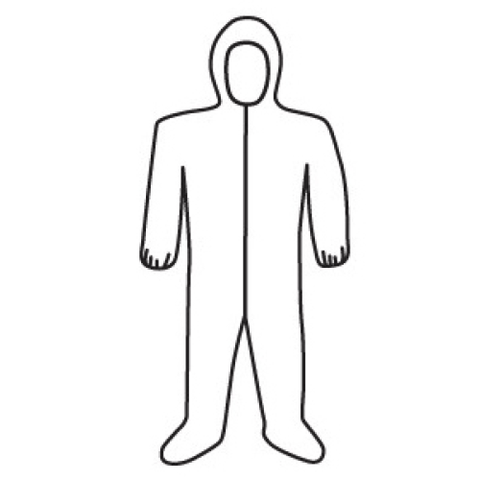 Coveralls - Disposable Coveralls, West Chester C3859, Posi-Wear, White, 25/Case