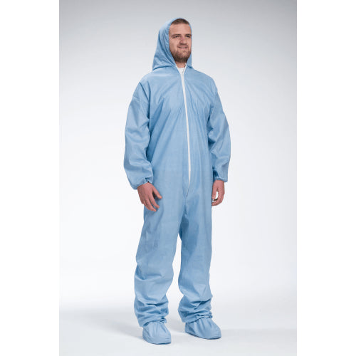 West Chester 3109 Posi-Wear FR, Flame Resistant Blue Coveralls 25pk