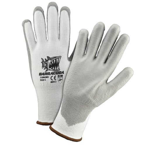 Cut Resistant Glove, 713HGWU, Barracuda, White, A2 Cut, 12Pair