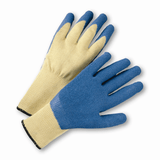 Cut Resistant Gloves - West Chester 700KSLC 10 Gauge A3 Cut Resistant Kevlar Knit Shell, Blue Latex Coated 12 Pair