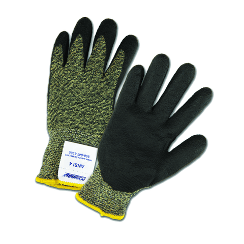 Cut Resistant Gloves - West Chester 710SANF A3 Cut Resistant Aramid Gloves, Nitrile, 12 Pair