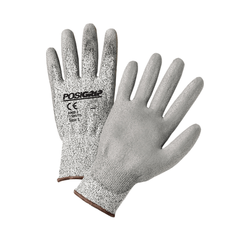 Cut Resistant Gloves - West Chester 713HUTS A2 Cut Resistant Touch Screen, Gray PU Coating 12 Pair