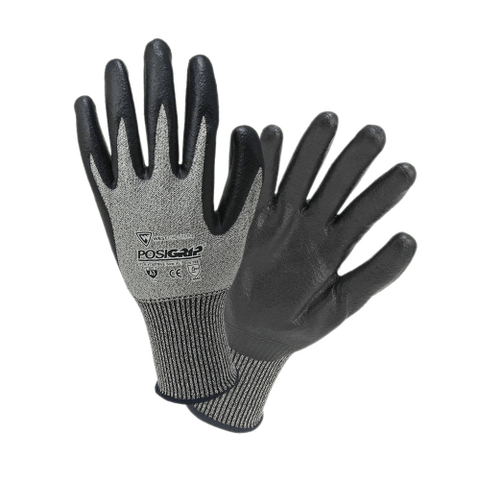 Cut Resistant Gloves - West Chester 730TBN A34 Cut Resistant PosiGrip Black Nitrile Coated 12 Pair