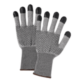 Cut Resistant Gloves - West Chester 730TBNDT A3 Cut Resistant PosiGrip W/Nitrile Dots 2 Sided And Coated Finger Tips 12 Pair