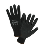 Cut Resistant Gloves - West Chester 730TBU A3 Cut Resistant PosiGrip Black PU Coated Palm 12 Pair