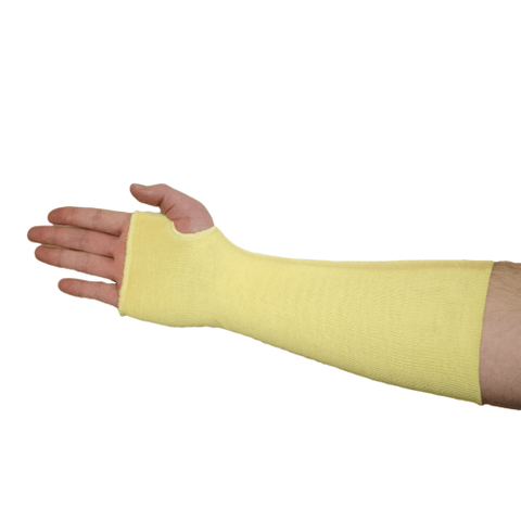 Cut Resistant - West Chester 2512KTE Single Ply Kevlar Sleeve W/Thumb Hole, 25ea