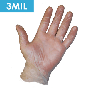 Disposable Gloves - Disposable Gloves-2745 Powder Free Clear Vinyl, Food Grade, 3 Mil, 100/ Box