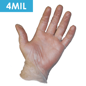 Disposable Gloves - Disposable Gloves-2750 Powder Free Clear Vinyl, Industrial Grade, 4 Mil, 100/ Box.