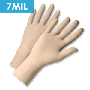 Disposable Gloves - Disposable Gloves-2850 Powder Free Latex, Industrial Grade, 7 Mil - 100/box
