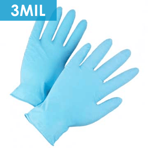 Disposable Gloves - Disposable Gloves-2905 Textured Powder Free Light Blue Nitrile, Food Grade, 3 Mil - 100/box