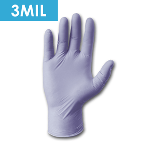 Disposable Gloves - Disposable Gloves-2930 Textured Powder Free Violet Nitrile, Exam Grade, 3 Mil - 100/box