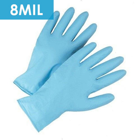 "Disposable Gloves - Disposable Gloves-2950 8 Mil Powder Free 11.5"" Blue Nitrile- 50/box."