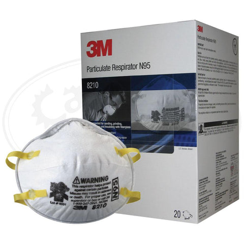 Disposable Respirator - 3M 8210 Disposable Respirator, N95, Universal, Case Of 160, Free Shipping