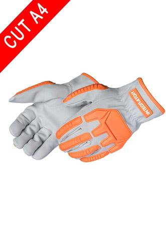 Drivers Gloves - Daybreaker 0935 Integrator Impact Glove, A4 Cut Resistant Leather Driver, 3 Pair