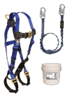 Fall Protection Kits - FallTech 9500Z JobSite Fall Protection Starter Kit, Harness, Lanyard