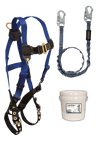 Fall Protection Kits - FallTech 9505Z Jobsite Fall Protection Starter Kit, Harness, Lanyard, Bucket