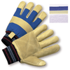 Gloves - Leather Gloves, 1555RF, Coal Miners Style, Pigskin, Double Palm, 12PK