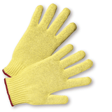 Gloves - West Chester 35K 7 Gauge Kevlar Knit Glove, Green Edging = Size •ANSI A2 Cut Level