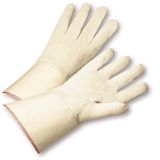 Gloves - West Chester GS21I, Canvas Gloves, Gauntlet Starched Cuff, 12PK