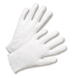 "Gloves - West Chester805L Heavy Weight Lisle/Inspection Glove, 10 1/2"" OAL - 100% Cotton - Size Small Or Ladies"