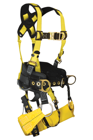 Harnesses And Belts - FallTech 7042 Journeyman Flex Tower Climber Full Body Harness W/Seat Sling