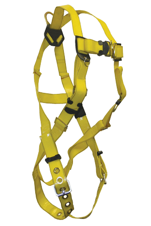 Harnesses And Belts - FallTech Contractor 7016PC Full Body Harness, 1 D-Ring Free Shipping