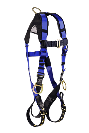 Harnesses And Belts - Falltech Contractor+ Plus 7018B, Full Body Harness, 3 D-Rings, Free Shipping