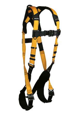 Harnesses And Belts - FallTech Journeyman Flex 7021BQC, Aluminum, Full Body Harness, 1 D-Ring