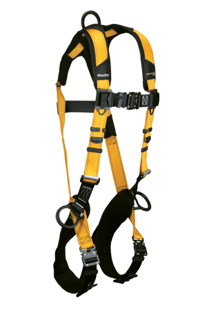 Harnesses And Belts - Falltech Journeyman Flex 7023BQC Aluminum Full Body Harness, 3 D-Rings