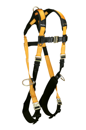 Harnesses And Belts - Falltech Journeyman Flex 7023qc, Steel, Full Body Harness, 3 D-Rings, Free Shipping